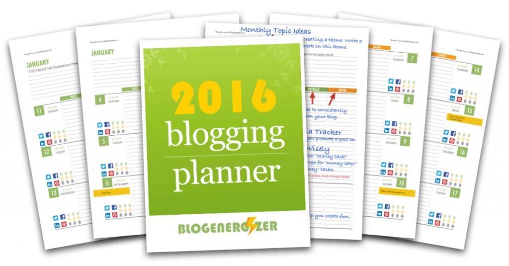 Planificador descargable 2016 para tu blog