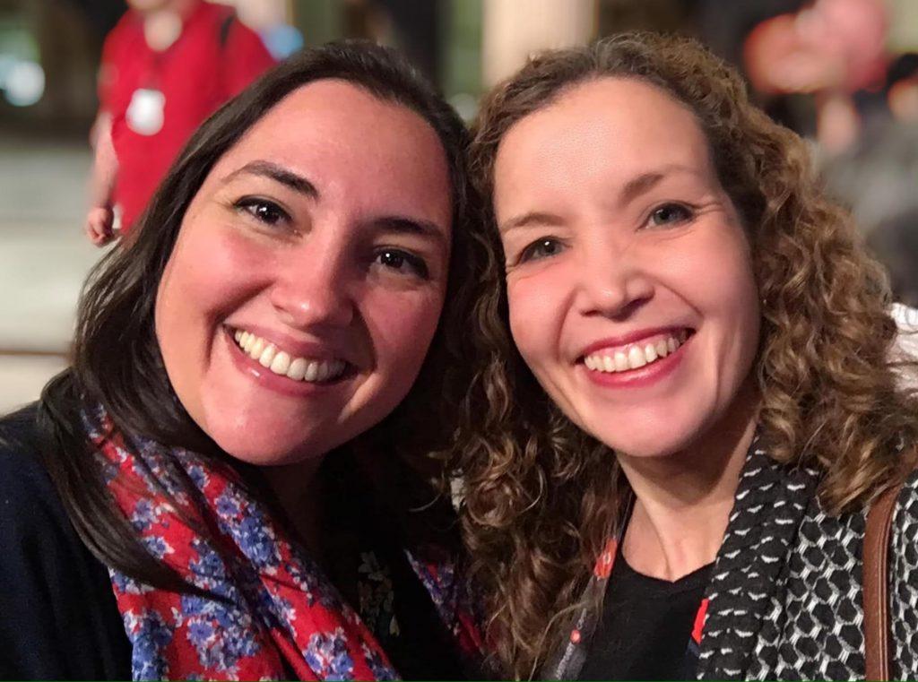 Alejandra Sastre y Vivian Watson